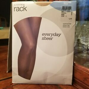 Nordstrom Everyday Sheer Control Top Pantyhose In Nude C  Up To 6'  & 185 Lbs.