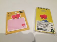 BRAND NEW OFFICIAL BT21 LINE FRIENDS TATA STICKY NOTES and SPIRAL RING NOTEBOOK