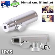 Elegant Metal Snuff Bullet Rocket Box Powder Dispenser Snorter Snuffer Tube Vial