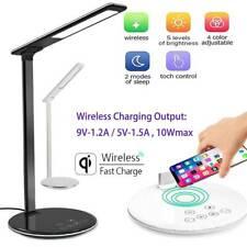 Charge USB DEL Desk Table Light + Téléphone Qi sans Fil Chargeur lecture étude Lampe