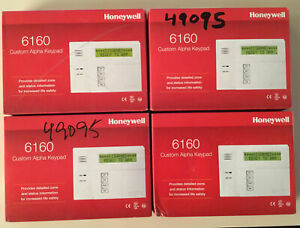 6160 HONEYWELL KEYPAD ADEMCO SECURITY ALARM FACTORY-SEAL DISTRESSED BOXES 4 LOT