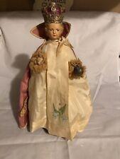 Antique Chalkware Jesus Infant of Prague Religious Statue