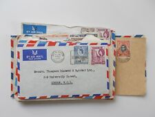 British KUT - 27 x George VI commercial covers / postal history. See pics below.