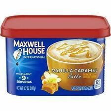 Maxwell House International Cafe Vanilla Caramel Latte Instant Coffee 8.7 oz Tin