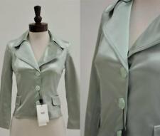 Dolce Gabbana Blazer Jacket ITALY 40 4 6 NWT Teal Stretch Satin Occasion $595