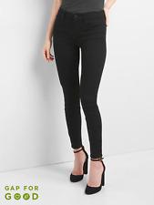 Gap Mid Rise True Skinny Jeans in Everblack, true black Sz 26P (1141B2)
