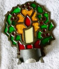 Vintage Giftco Christmas Cast Iron Wreath Candle Holder - New