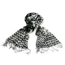 New Black Ethnic inspired chunky scarf woven and spotty design with Tassels