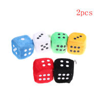 2Pcs 4Cm Plush Dice Cloth Doll Pillow Pendant Children'S Games Props Toy Fr S~9K