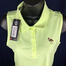 Under Armour Ladies S/S Golf Polo *Fox* Sleeve Logo - Neon Yellow - Med