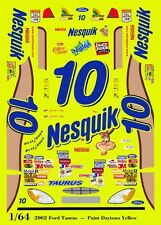 #10 Scott Riggs Nesquik Ford Taurus 1/64th HO Scale Slot Car Waterslide Decals
