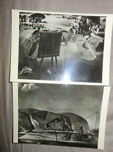 Postcards x2  Art Salvador Dali TATE GALLERY 1938 IMPRESSIONS AFRICA BEACH SCENE