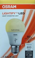 OSRAM LED Bulb Dimmable LIGHTIFY A19 Soft White 9 W LED Light 60 W E19985