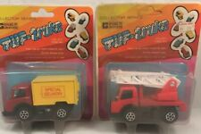 Vintage Tuf-Truks Green Grass Toys Delivery Fire Truck Diecast Metal Hong Kong