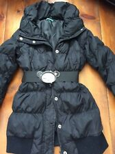 united colors of benetton black padded coat 7-8 years