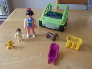 Playmobil Geobra City Green Economy Car with Two figures and Accessories