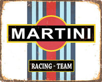 Martini Racing Team VINTAGE ENAMEL METAL TIN SIGN WALL PLAQUE
