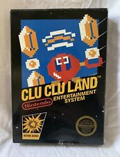 Clu Clu Land (Nintendo NES, 1985) 5 Screw UNPUNCHED Black Box Game Complete MINT