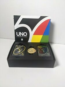 UNO 50th Golden Anniversary Edition Card Game Exclusive Gold Coin and 50/50 Rule