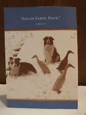And On Earth Peace Season Blessing Holiday Greeting Best Wish Classic Blank Card