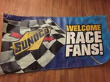 Sunoco Welcome Race Fans Banner Vinyl New 6 Foot x 3 Foot Free Shipping!!!!