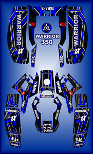 Yamaha Warrior 350 full graphics kit sticker decals