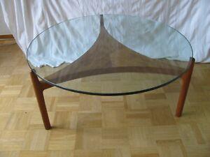 Sven Ellekaer Teak Glas Coffee Table  60er - 70er Jahre (A 529)