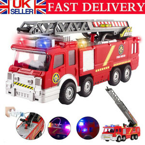 Electric Fire Truck Water Spray Music Fire Engine Car Toy Kids Educational Gifts