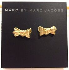$42 NWT Marc By Marc Jacobs Antique Gold Bow Stud Earrings