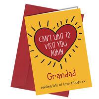 #1309 Grandad Can't Wait To Visit You Again Lockdown Greetings Card