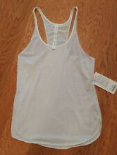 New nwt lululemon White what the sport singlet tank top Sz 10