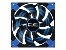 AeroCool Dead Silence 12cm Dual Material Silent PC Cooling LED Fan 1000rpm Blue