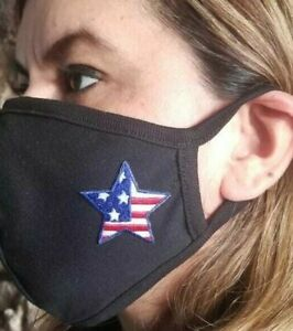 MADE IN USA, Face mask,USA STAR, mouth nose cover, 100% Cotton, soft,