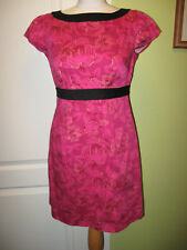 OASIS SIZE 10 LADIES PINKY PURPLE & GOLD OUTLINE SPECIAL OCCASION DRESS
