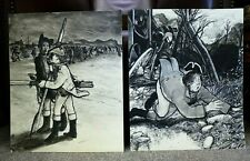 Vintage Selwyn Jones Welsh Art Illustrations Sketches Ink Drawings Anglesey