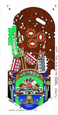 Williams River Boat Gambler Pinball Machine Playfield Overlay WMS FILMS