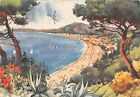 Cartolina - Postcard - Illustrata Frattini Alassio panorama da Levante 1957