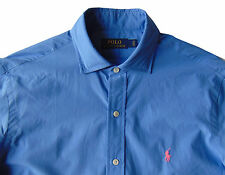 Men's POLO RALPH LAUREN Aerial Blue Poplin Cotton Shirt L Large NWT NEW Nice!