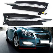 LED DRL Front Bumper Fog Lamp Daytime Running Light For 2009-13 Chevrolet Cruze