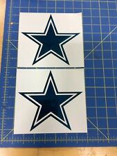 Dallas Cowboy Helmet Decals Chrome Blue - FS Helmet Pro Combat Edition