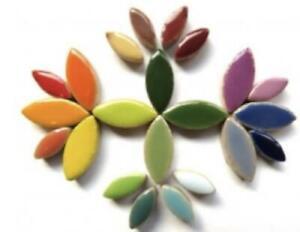 Mixed Ceramic Petals - Mosaic Tiles Supplies Art Craft