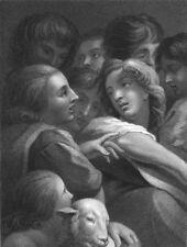 A STUDY OF HEADS.  Antonio da Correggio (2)  1835 old antique print picture
