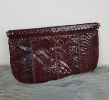 VINTAGE Leather Clutch Evening Purse Australian Made Reptile Leather Genuine 💓