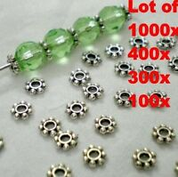 Lots of 1000 HOT Tibetan Daisy Spacer Metal Beads 4mm Jewelry Making Wholesale