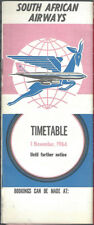 South African Airways system timetable 11/1/64 [7121]