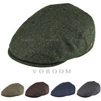 VOBOOM HERRINGBONE MENS IVY CAP 50% WOOL TWEED GATSBY CAP WARM WINTER HAT 2