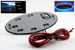 """Blue LED Lo-Glow light unit for your 3.5"""" Wide Ford Oval Emblem Badge"""
