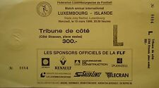TICKET 10.3.1993 Luxembourg - Island