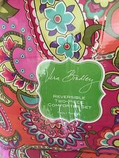 Vera Bradley New In Package Very Rare Pink Swirls Twin Comforter & Sham Set