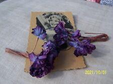 Fleur ancienne. Bouquets de violettes. Déco pour chapeaux. Années 1930. N°305